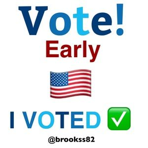 🇺🇸 I VOTED EARLY! 🤗